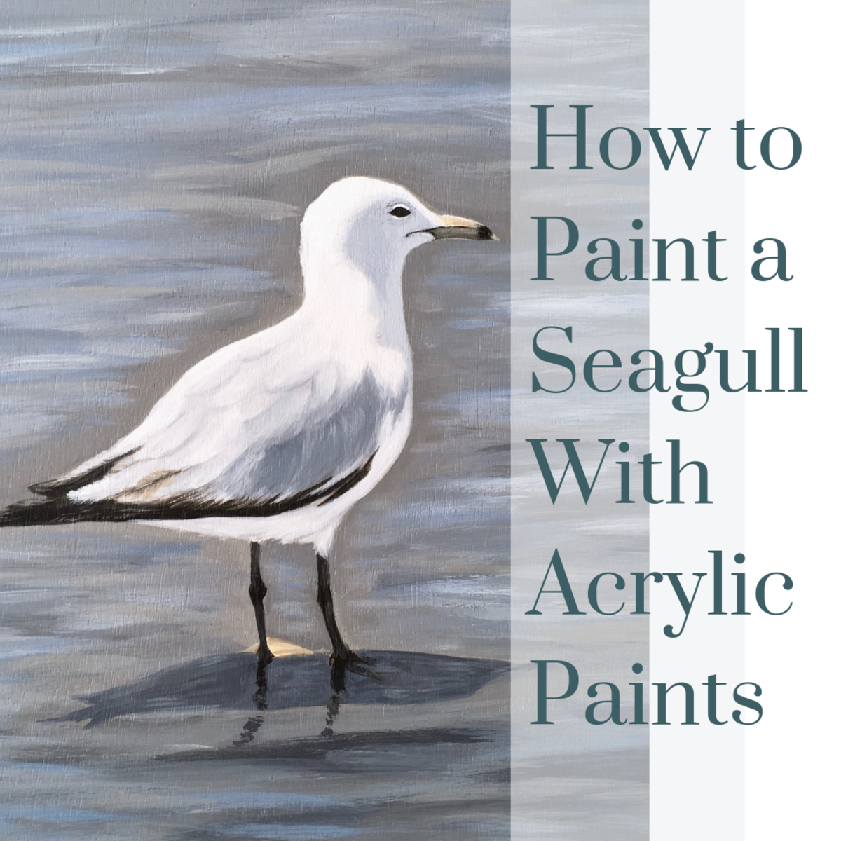 How to Paint a Seagull With Acrylic Paints