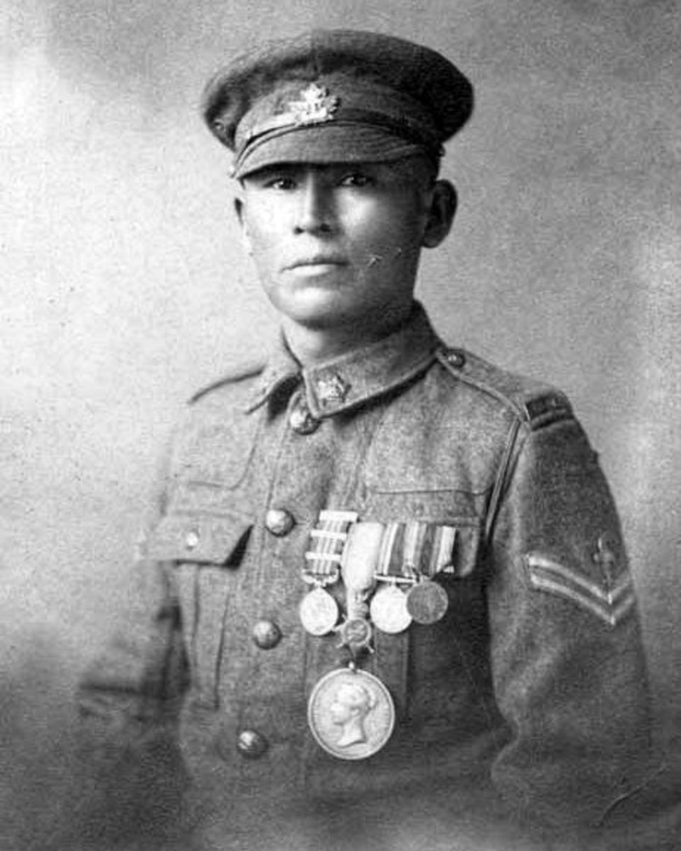 Corporal Francis Pegahmagabow.