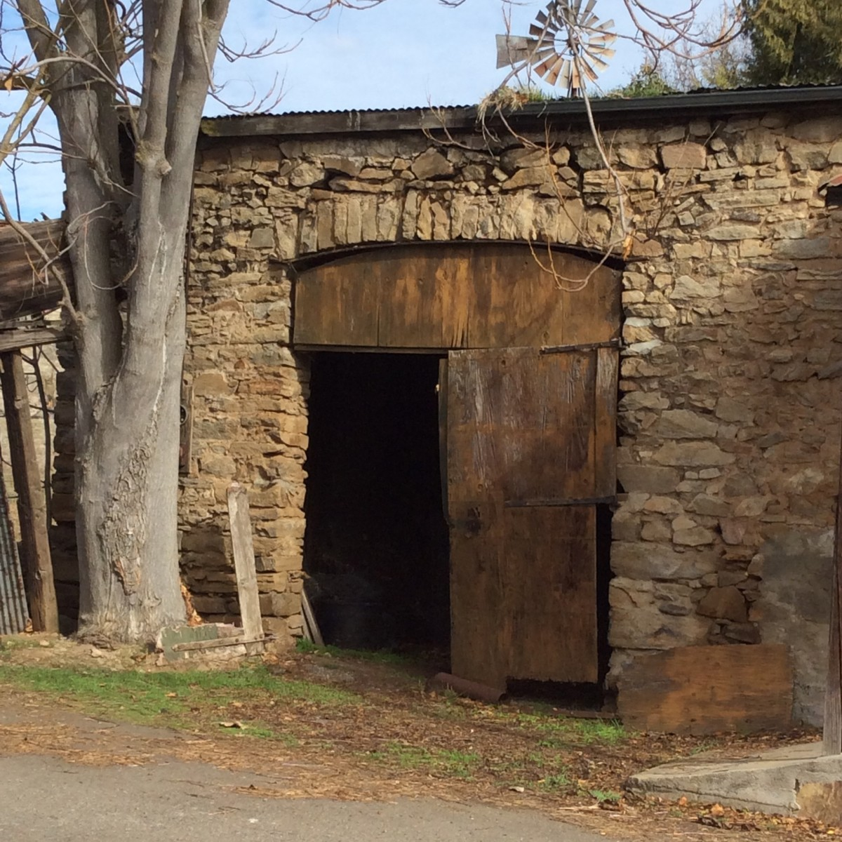 Doorway to the past. Native stone and a lot of hard work built structures that still stand strong.