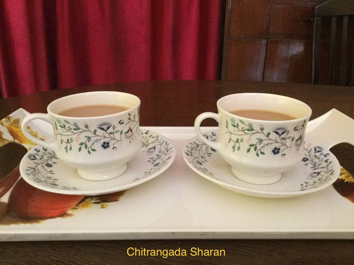 Morning cup of tea, brings along some blissful moments with it.