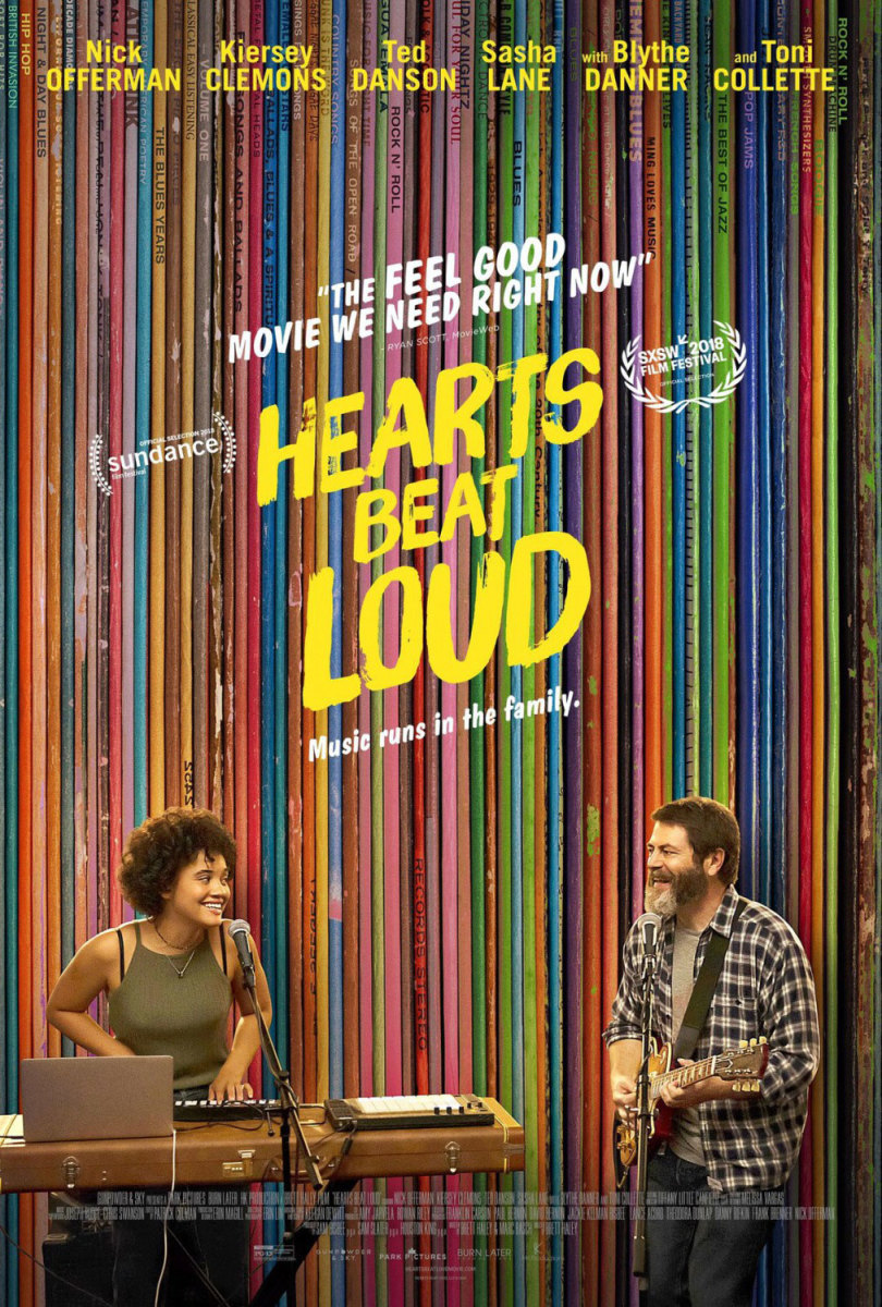 "The official theatrical poster for, ""Hearts Beat Loud."""