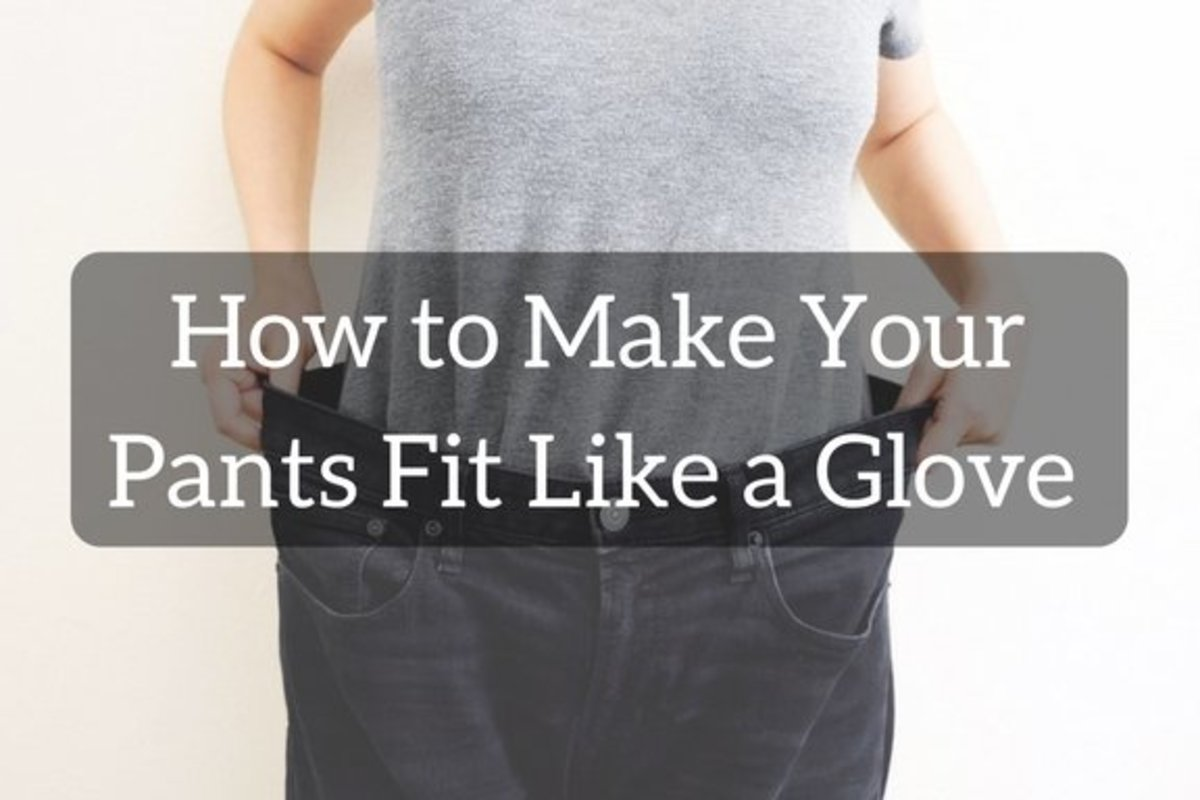 How to Alter Pants to Fit Your Body Shape: Taking out and Cinching In
