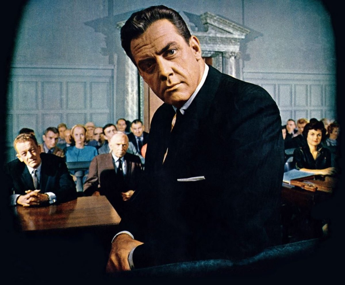 "Raymond Burr and the cast of ""Perry Mason"""