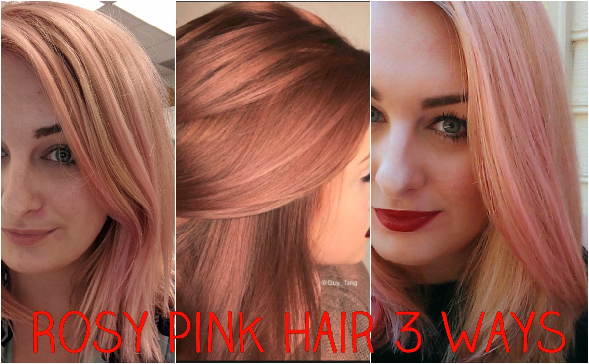 Hair DIY: Three Ways to Get Rose Gold/Pale Pink Hair