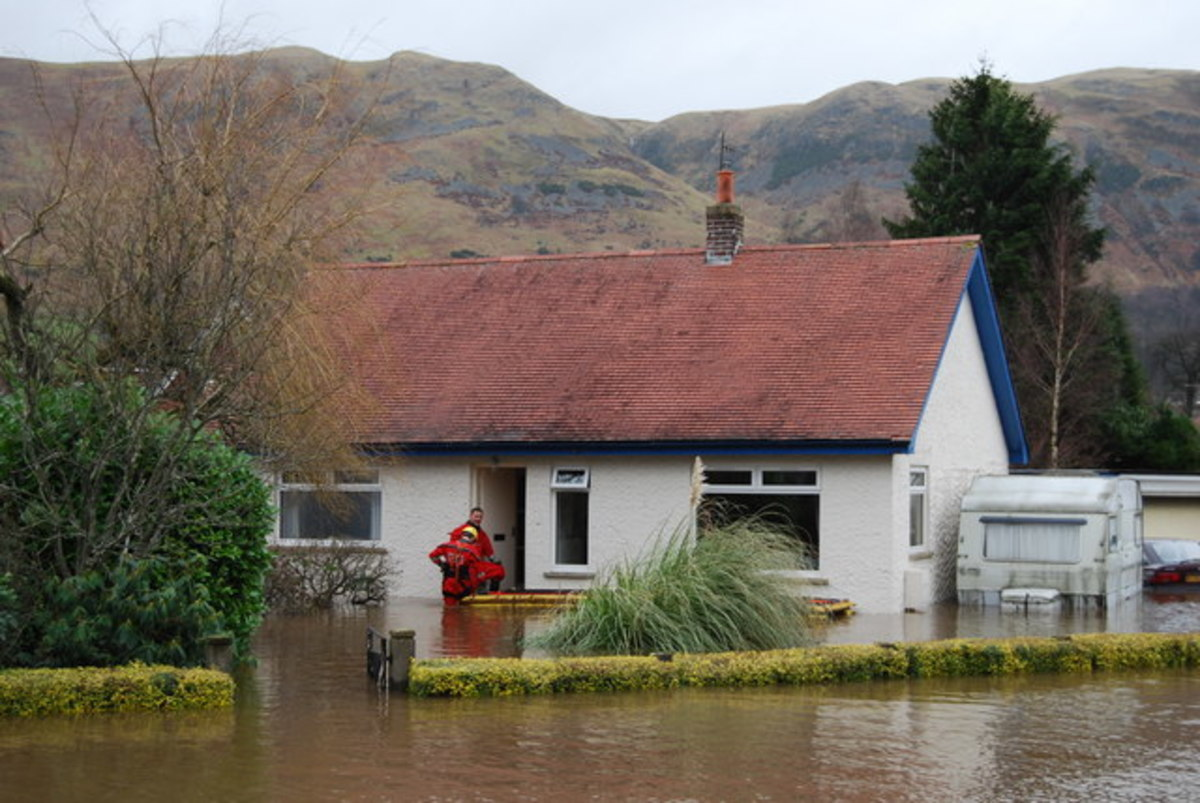 A flooded property.