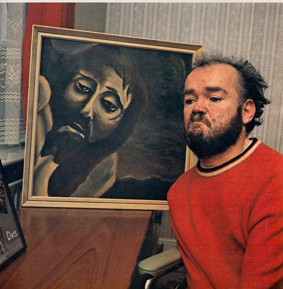 Christy Brown with his painting