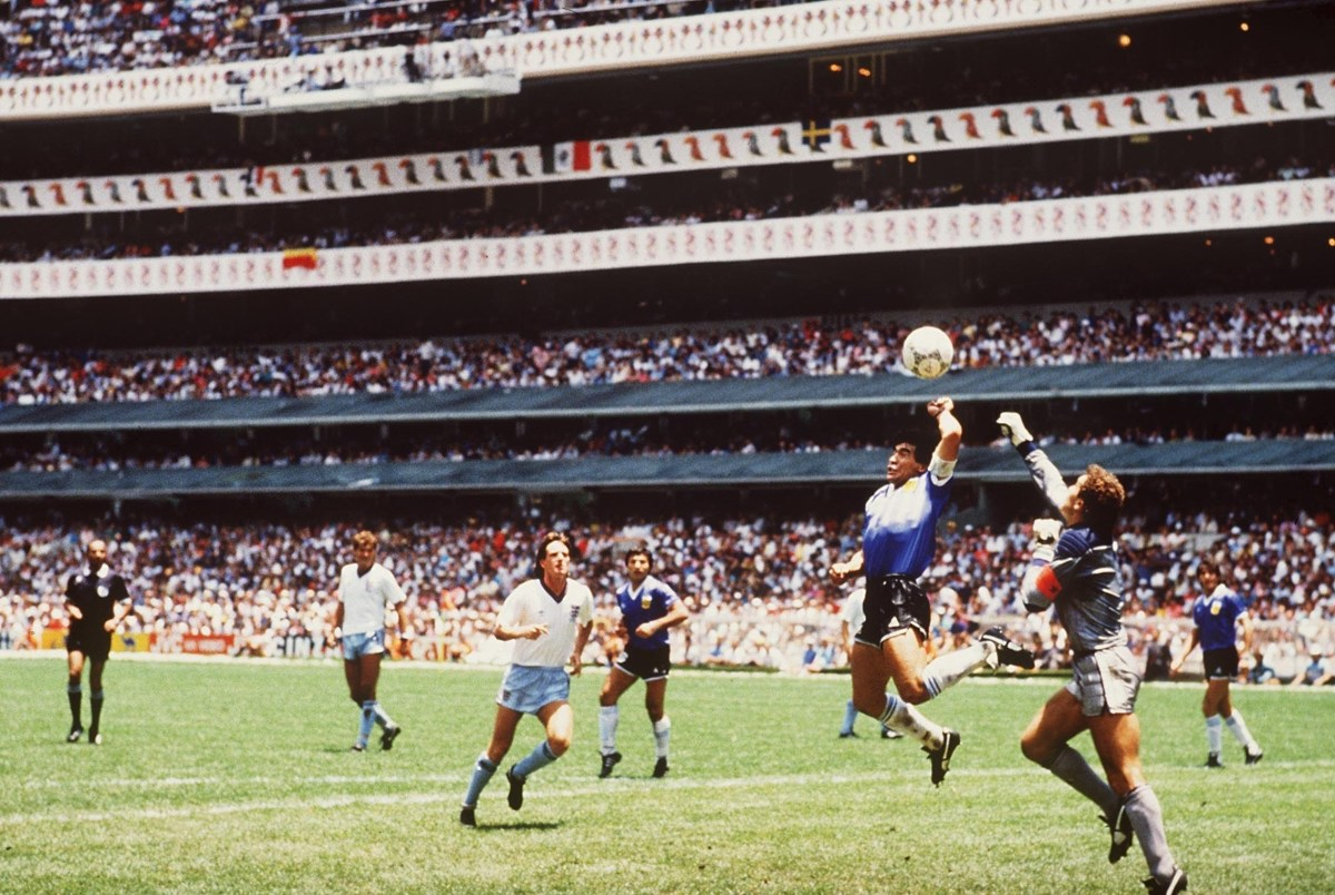 Maradona's 'Hand of God' will forever be one of the most iconic moments in football history,
