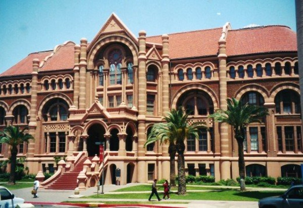 Galveston Old Red Building on UTMB Campus