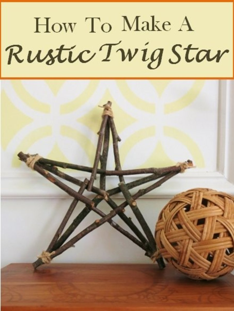 How to Make a Rustic Star from Twigs or Sticks