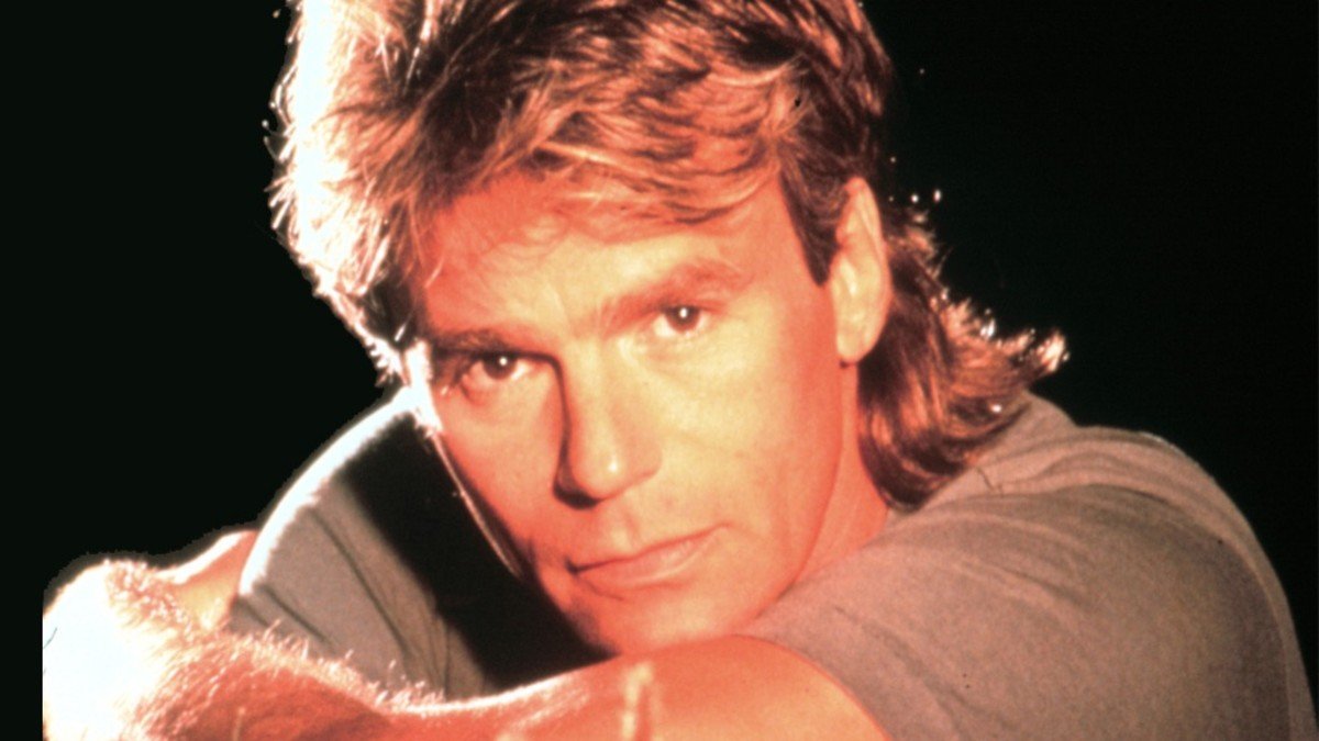 "Close-up of Richard Dean Anderson, ""Angus MacGyver."""