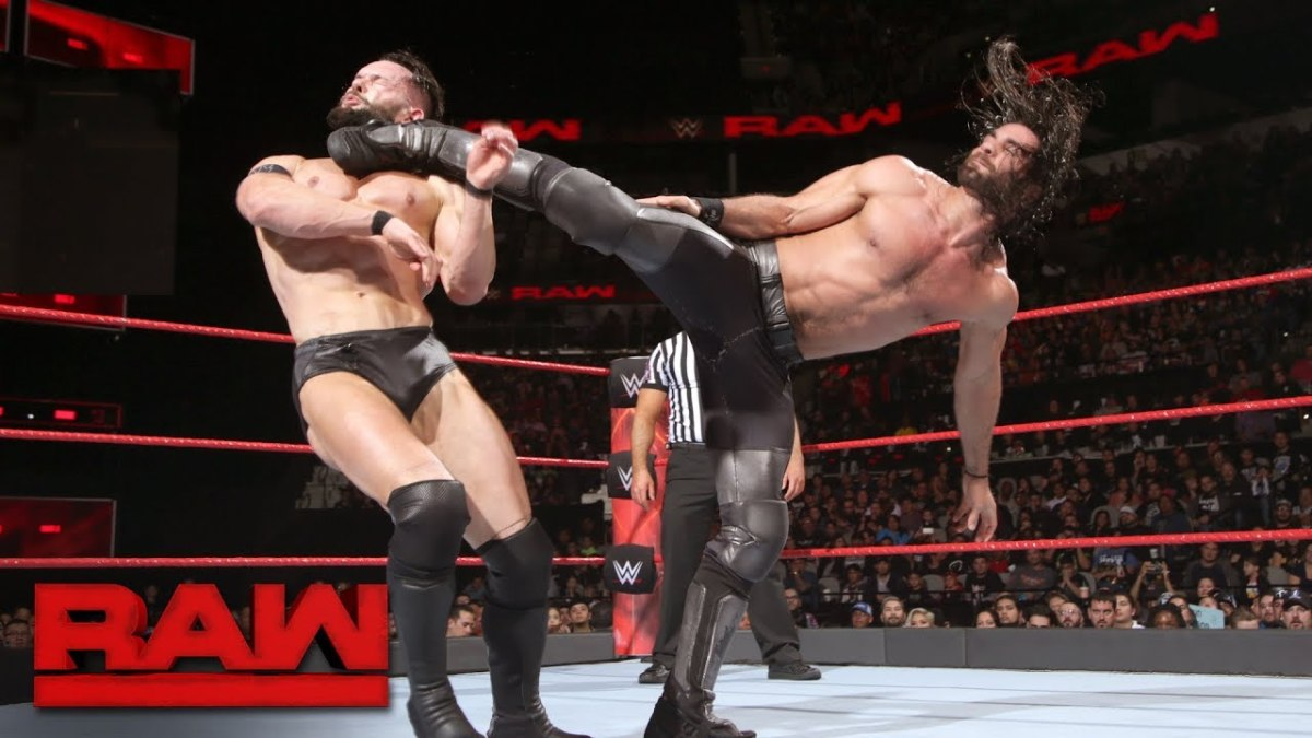 Finn Balor battles Seth Rollins on Raw