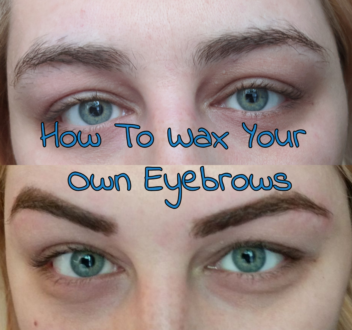 My before and after DIY eyebrow waxing photos.