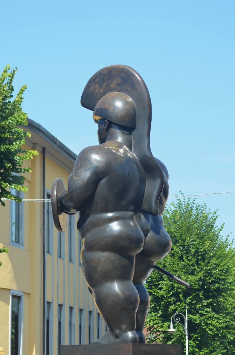 Fernando Botero's  'Fat Warrior' (c) A. Harrison