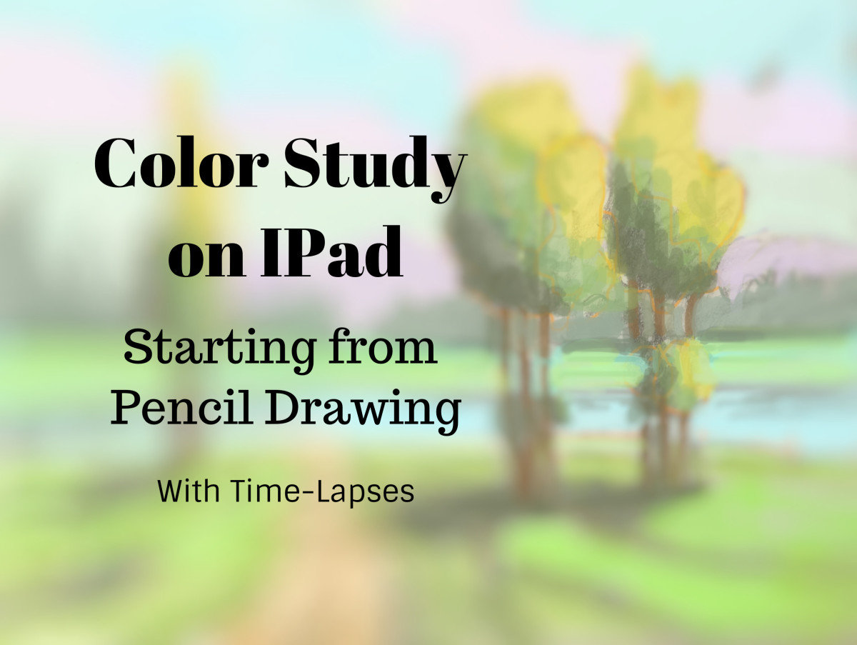 How to Create a Color Study on IPad Starting from a Pencil Drawing with Time-Lapses