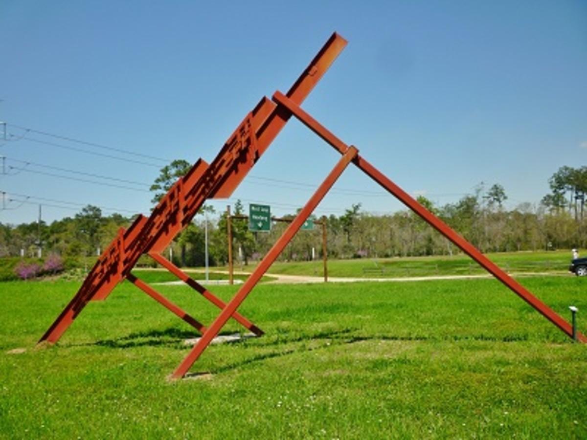 """Three Quarter Time"" Sculpture by Ben Woitena in Houston's Memorial Park"