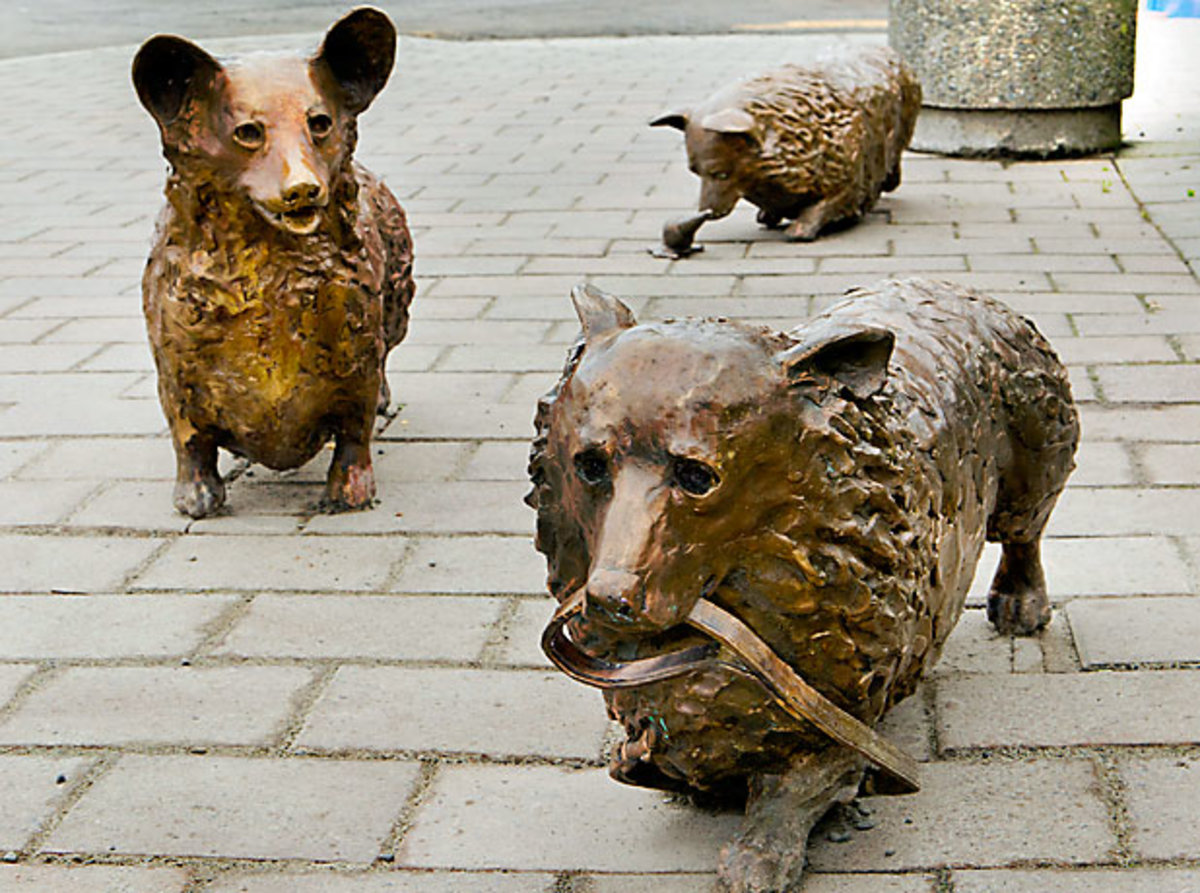 Poems for May 2018: Corgis in Christchurch, New Zealand; 2 Poems, Facts about the Sculptures, Corgis and Bronze