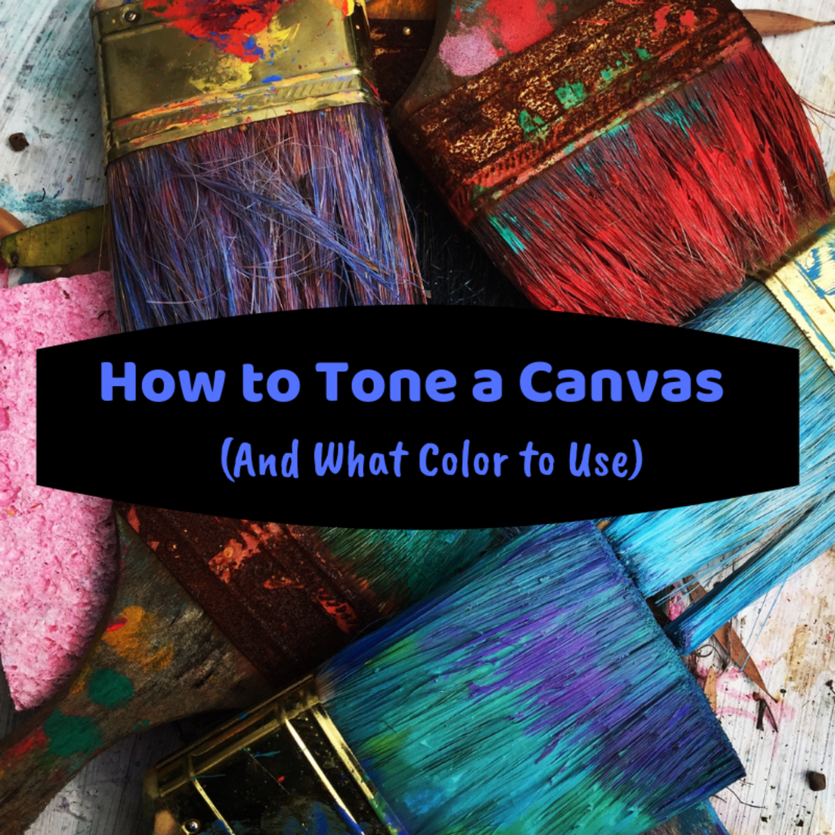 Toning a canvas is a great way to get rid of white space so you can dive right into the painting process.