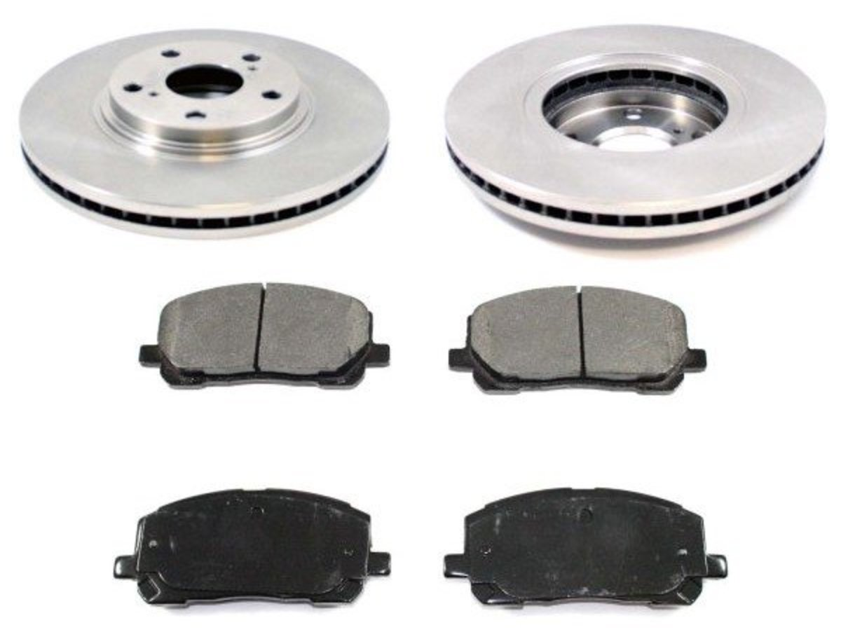 Lodal Front Axle Brake Shoes : Toyota front brake service pad and rotor