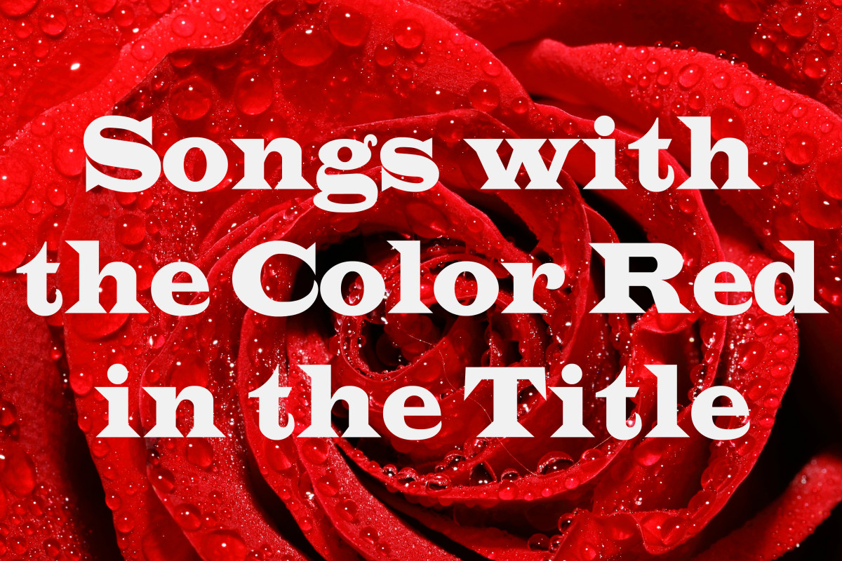 Red is an attention-grabbing color that symbolizes passion, danger, and strength.  Celebrate the intensity and beauty of the color red with a playlist of pop, rock, country, and R&B songs.