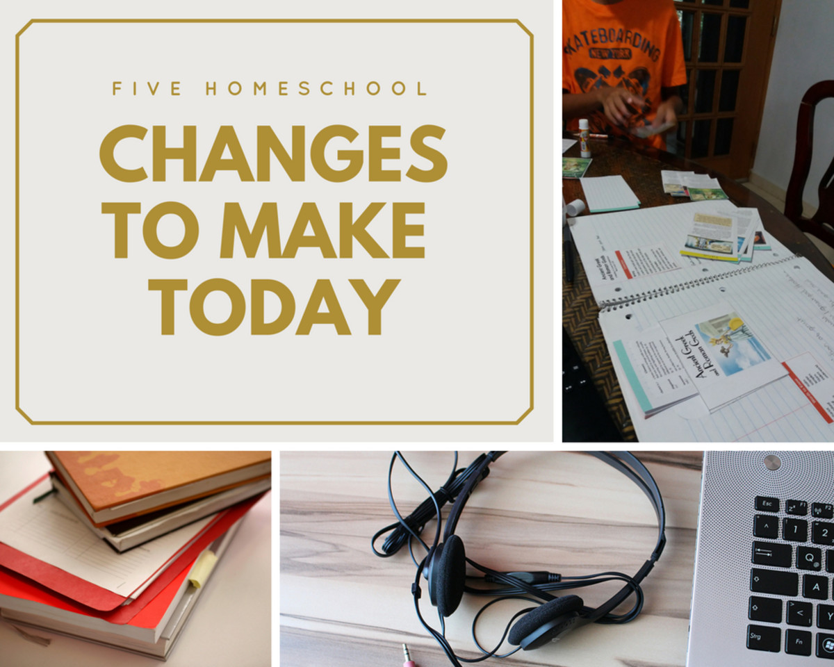 Changes are easy to make and streamlining your day means peace in your homeschool.
