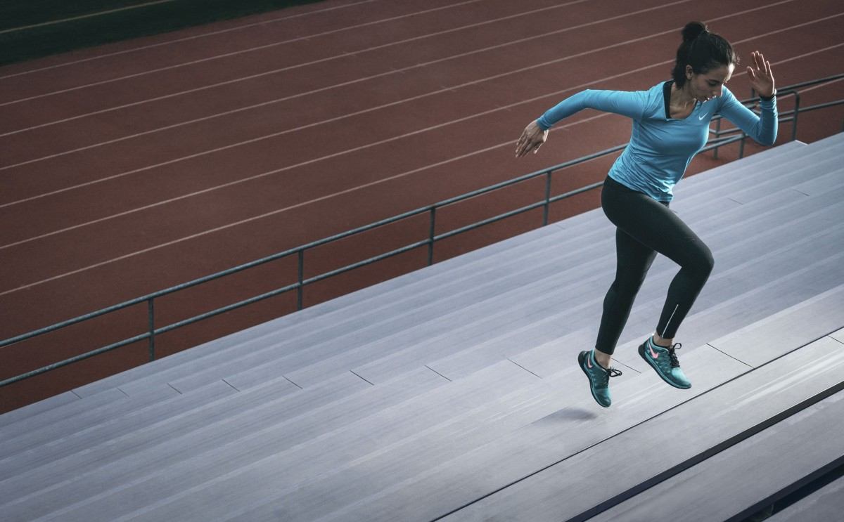 Running or walking up stairs or bleachers for 10 minutes provides great cardiovascular exercise.