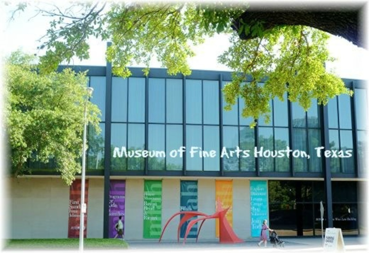 Partial view of the Caroline Wiess Law Building of the Museum of Fine Arts in Houston