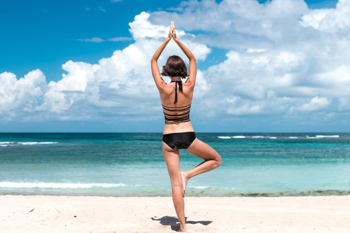 You can practice your yoga poses almost anywhere!