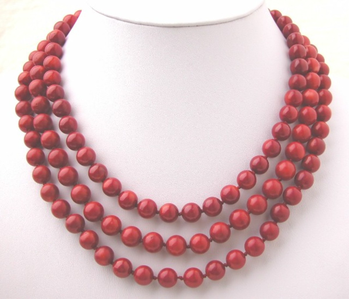 Italian Red Coral Necklace AAA+ Quality