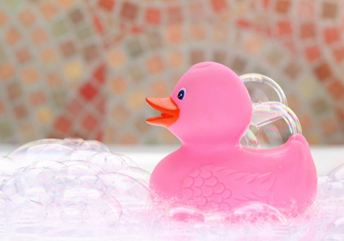 Bubble baths are fun and relaxing!