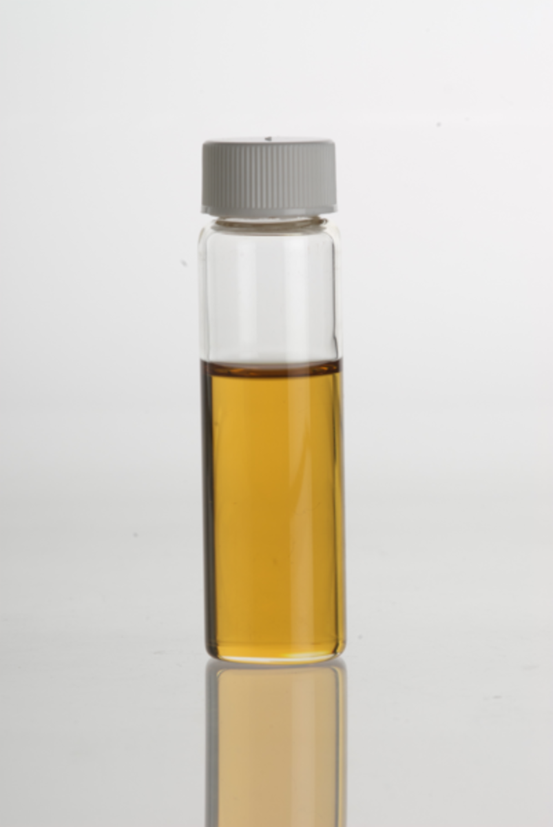 A vial of the essential oil.