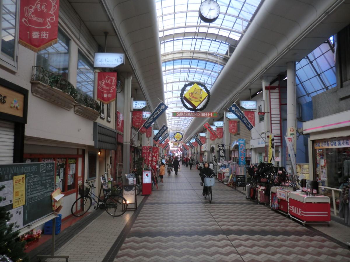Sakaemachi Street in Ikeda Japan