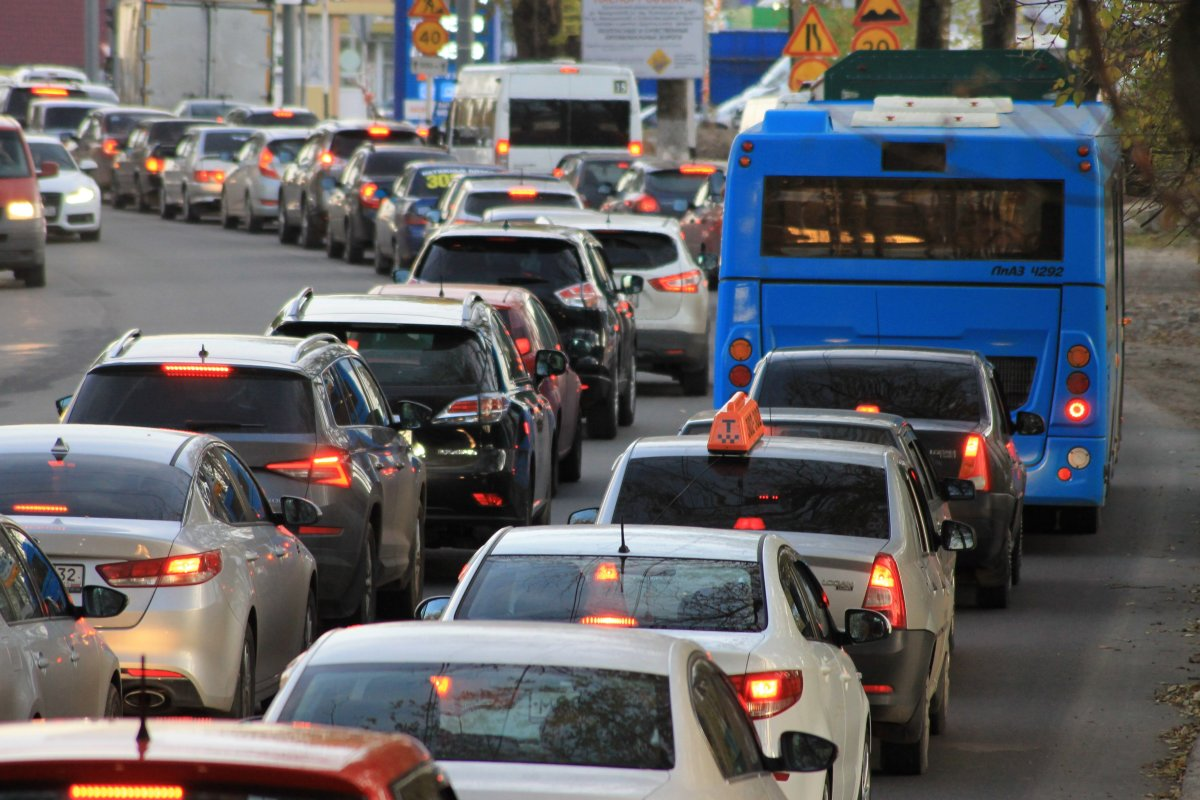 Caught in a traffic jam is a good example of something we can do nothing about.