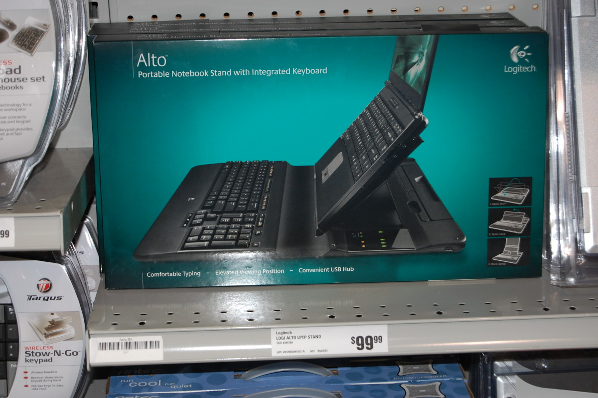 The only way to make a laptop ergonomic is with a docking station &/or peripherals.