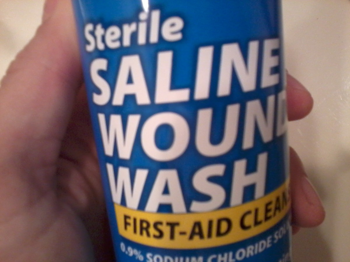 Sterile saline solution is something many people do not have in their personal first aid supplies.