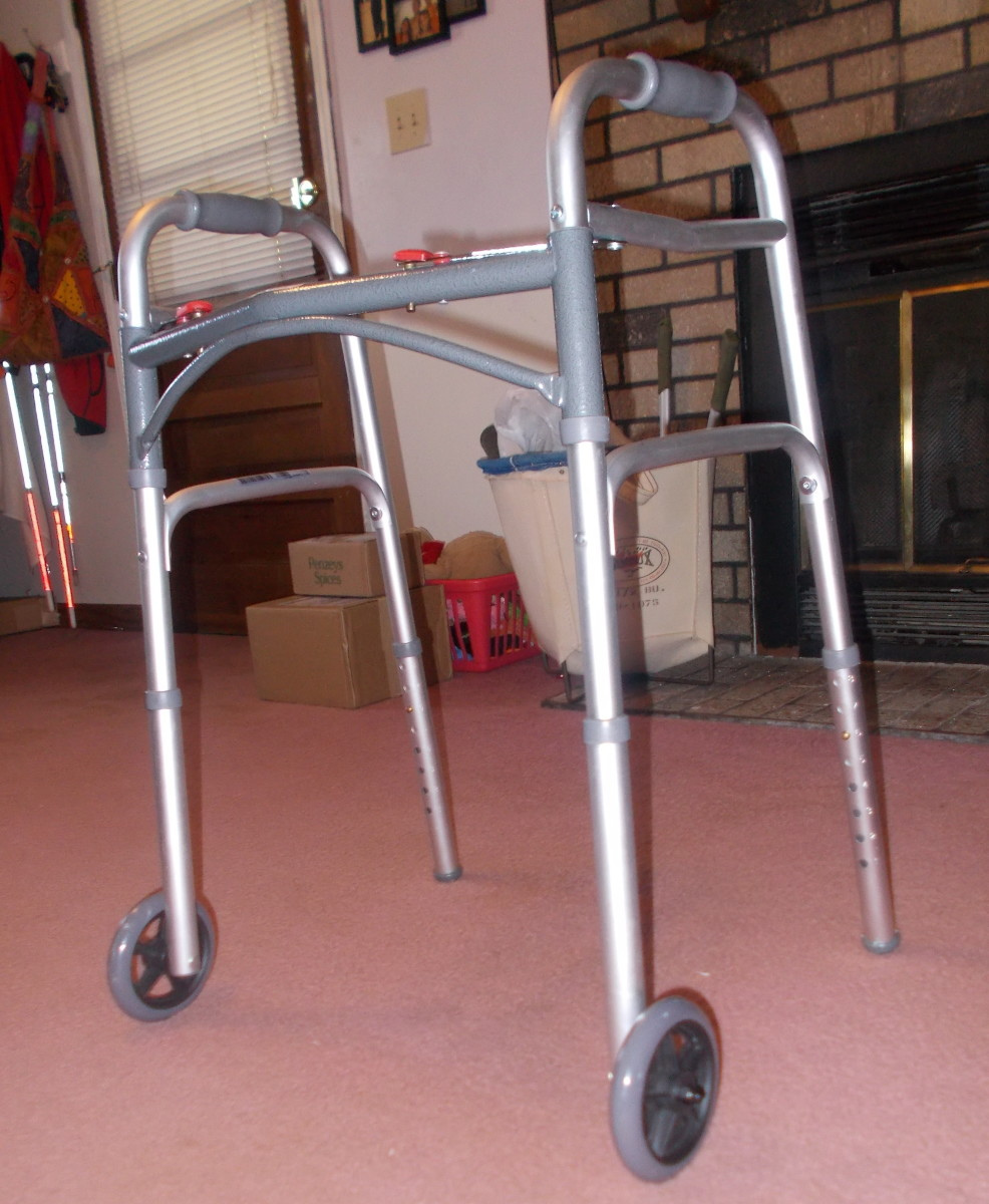 Using a walker can help with mobility while reducing the risk of falling.