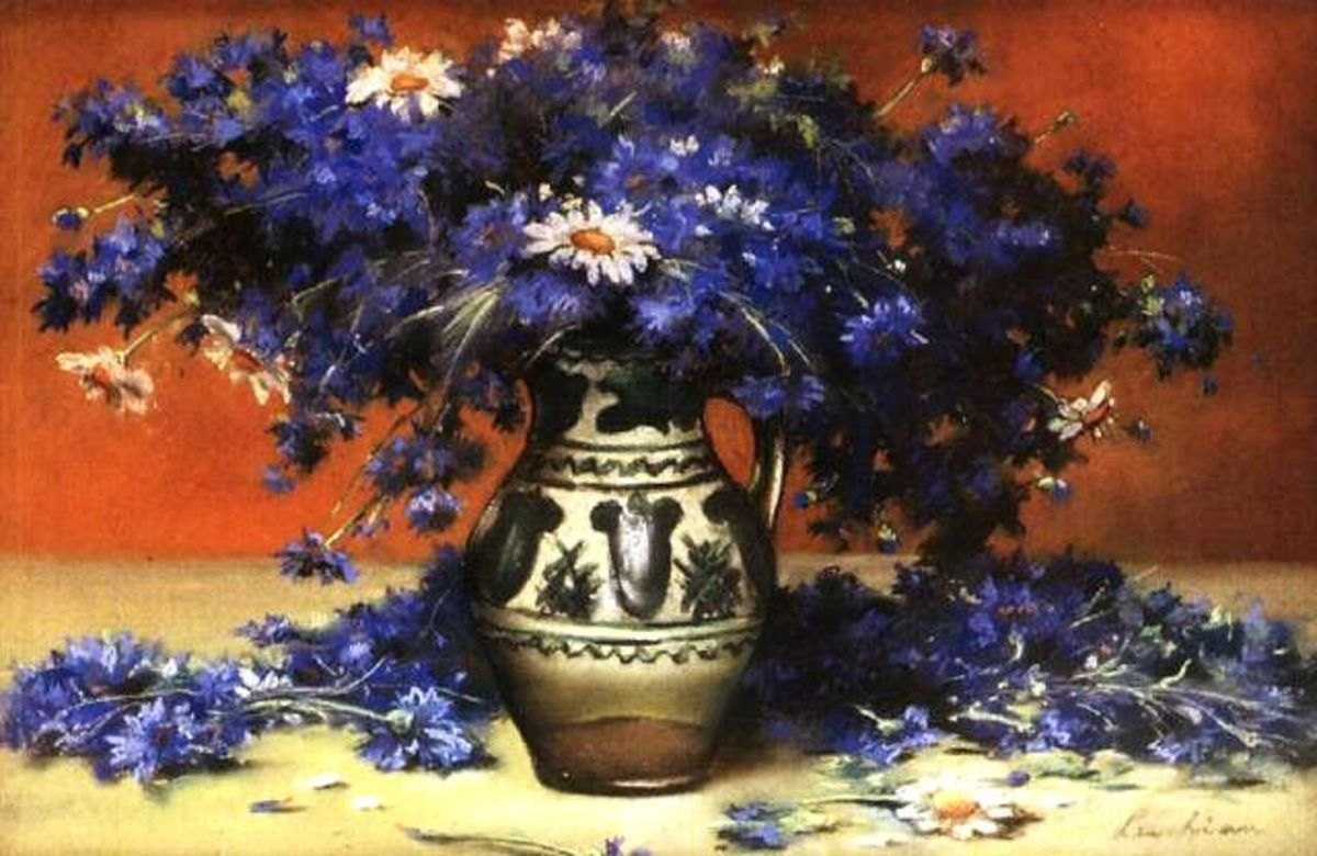 """""""Cornflowers"""" - A Miracle Medicine. Painting by Stefan Luchian (1868 - 1916)."""