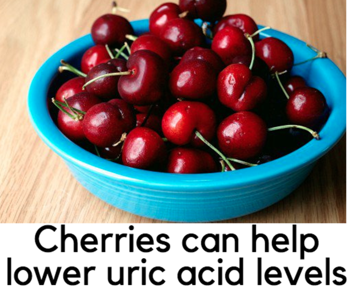 Cherries can help lower uric acid serum levels.