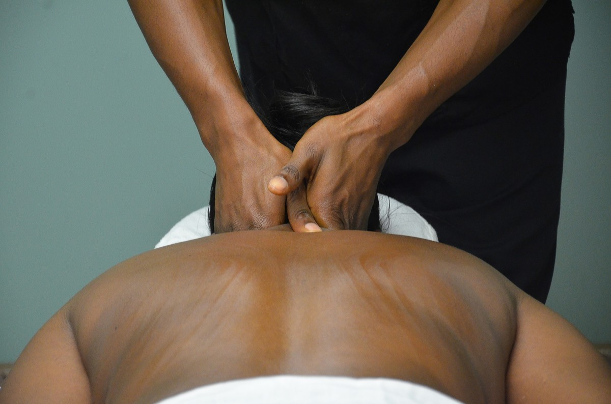 Many massage techniques use muscle release and sweeping motions to dissolve points of tension.
