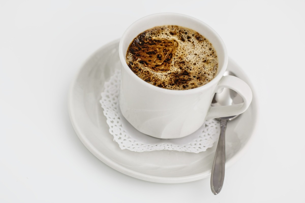 Coffee is healthiest for teeth without milk or cream, although it can stain teeth.