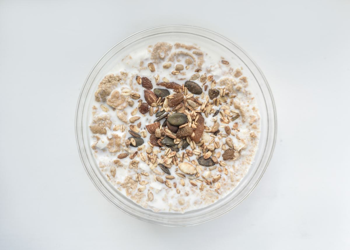 Oatmeal contains L-Tryptophan which triggers serotonin release in the brain.
