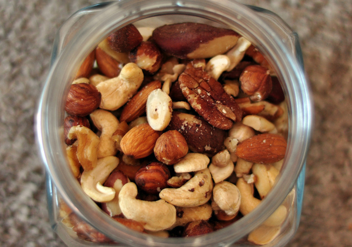 Nuts contain the vitamin B complex which help you fight fatigue.