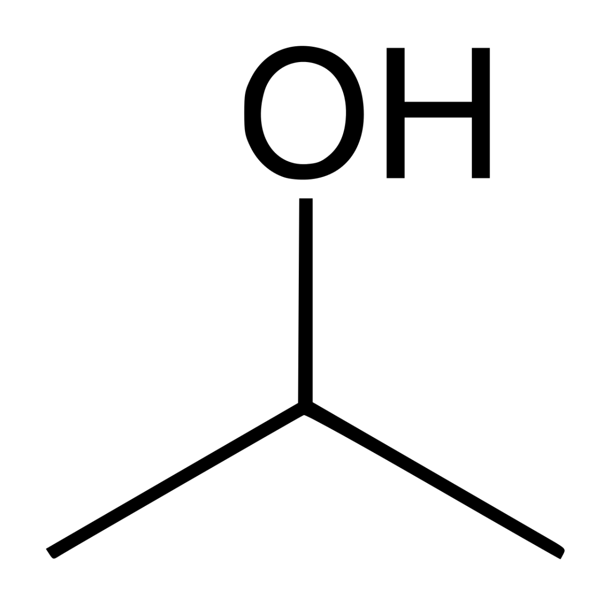 Isopropyl Alcohol Chemical Structure