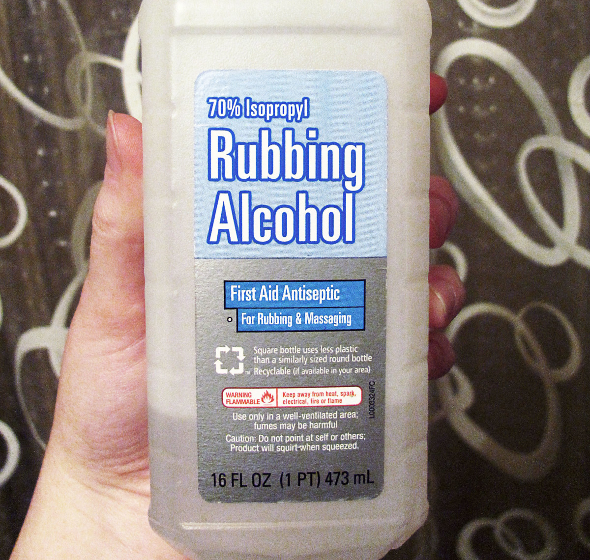 Rubbing alcohol made with 70% isopropyl alcohol is about the proper dilution ratio.