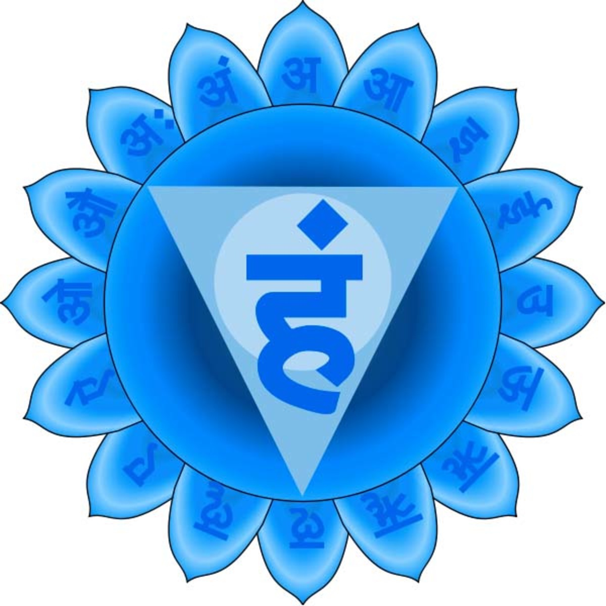 This is the symbol for the Throat Chakra, or Vishuddhi.