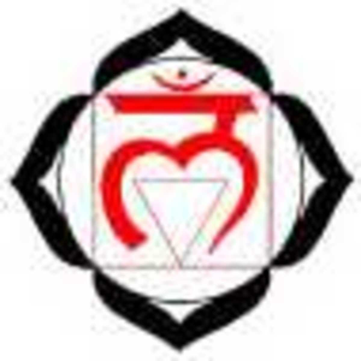 The Indian symbol for the Root Chakra, also known as the Muladhara.