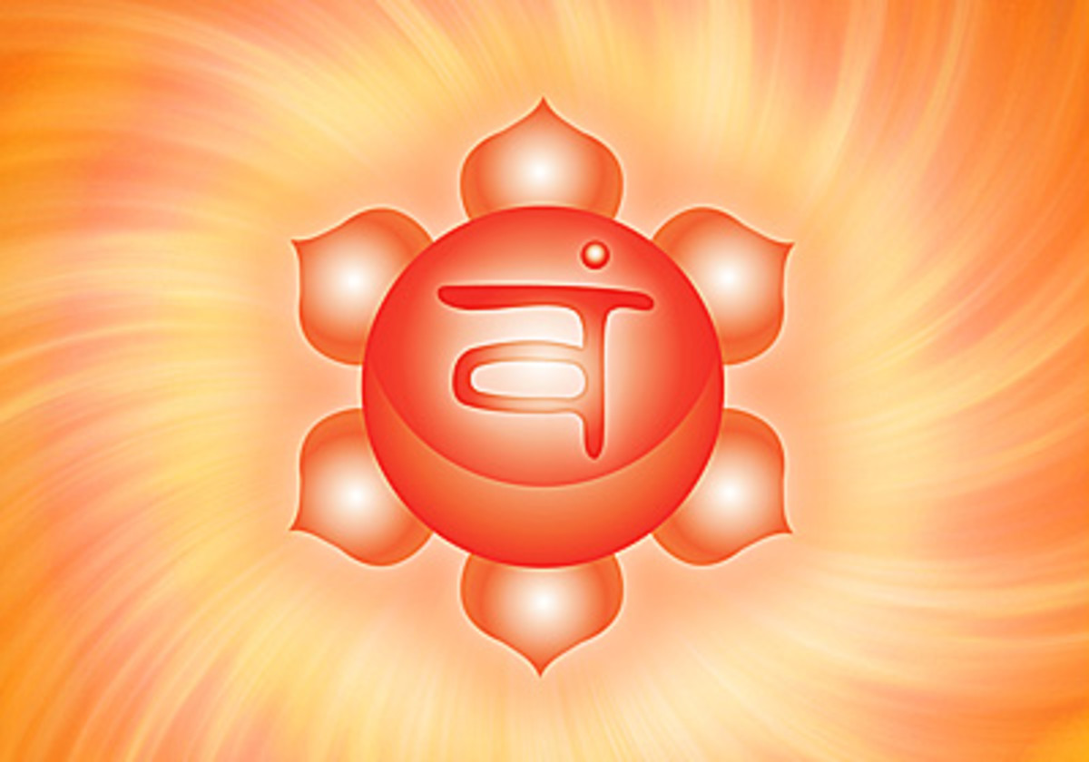 Also known as the Swadhisthana, the Sacral Chakra is represented by the color orange.