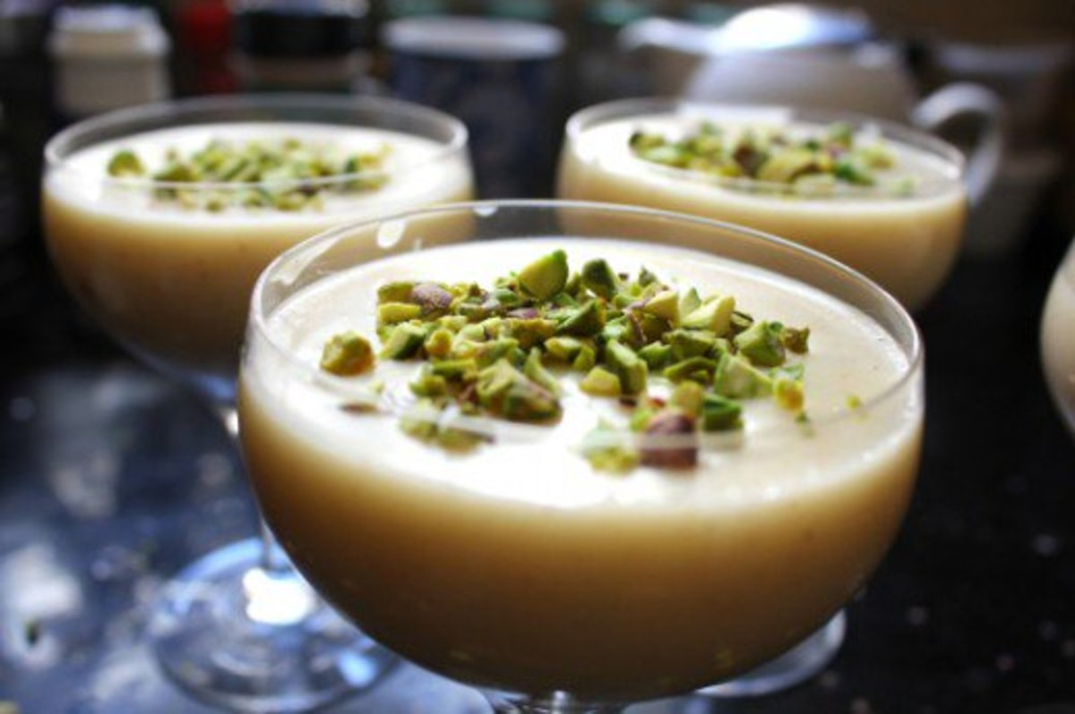 Muhallabia, a Middle Eastern milk pudding made from camel milk
