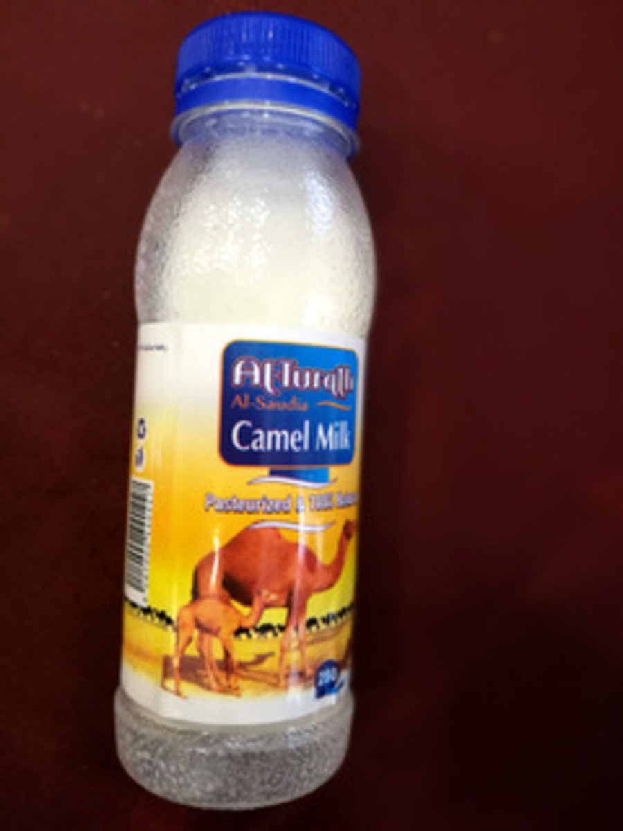 This is the pasteurized camel milk that I drank