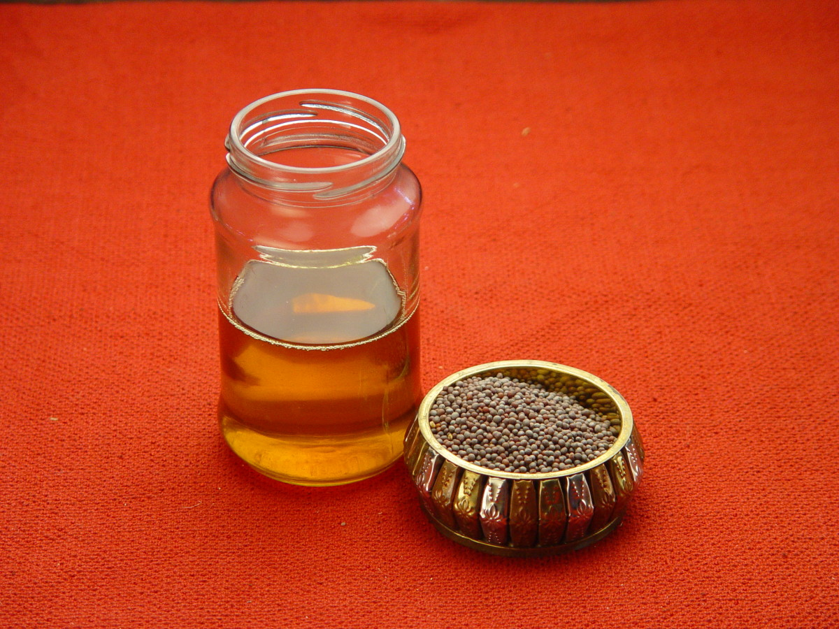 Mustard oil can be used to warm the chest.