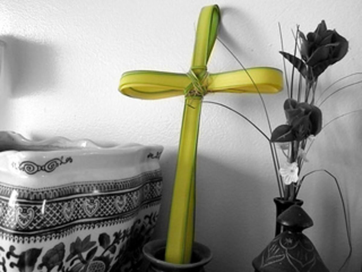 Date leaf used for Palm Sunday celebration